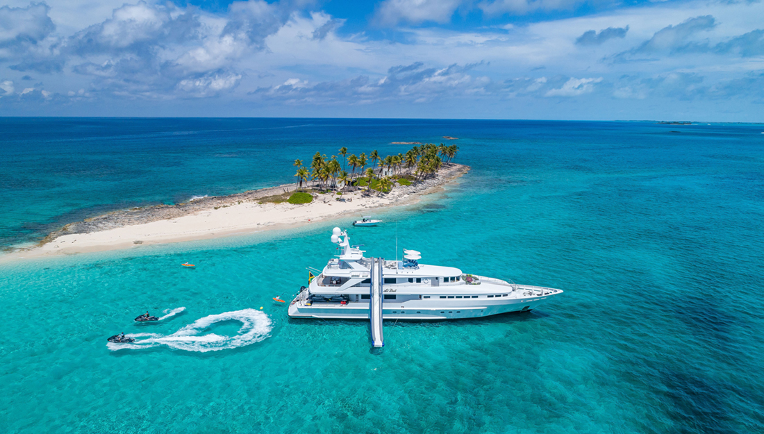 A yacht in the Bahamas