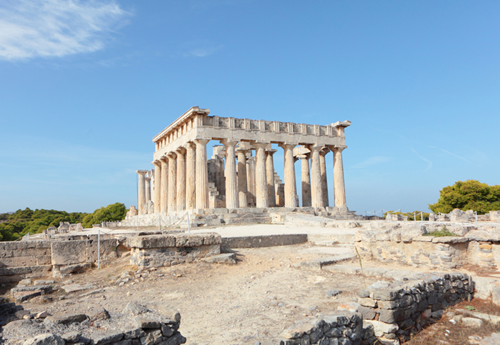 Visit an Aegina temple on your yacht charter