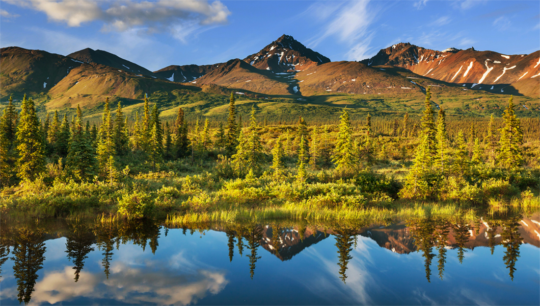 Alaska landscape and lake