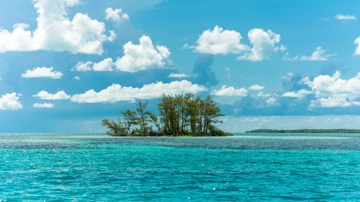 An isolated isle in Bimini