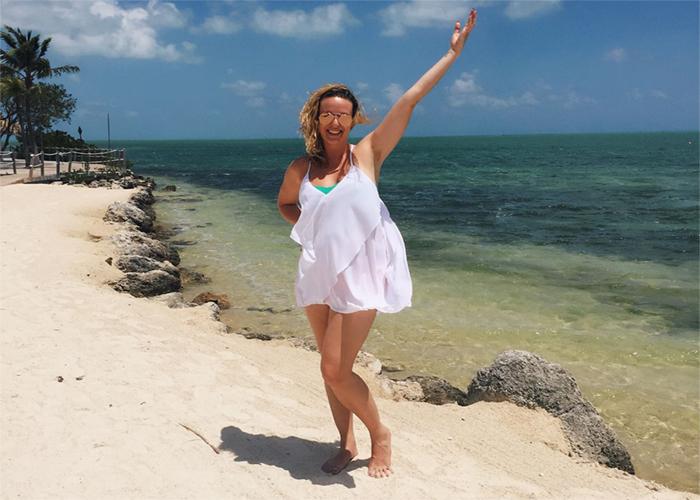 Ashley on the beach