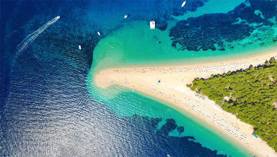 Brac island beach