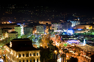 Cannes at night