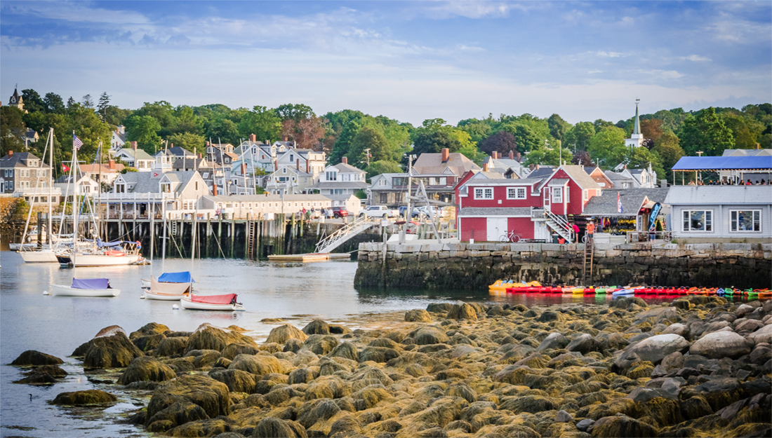 Coastal town New England