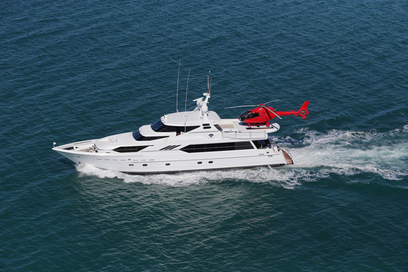 Flying Fish Yacht with Helipad