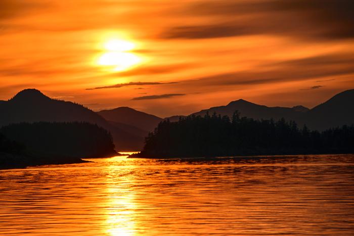 Frederick Sound sunset