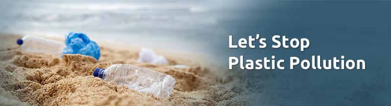 Let's stop plastic pollution banner