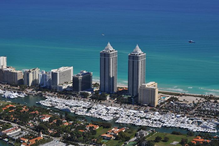 Miami Boat Show aerial view
