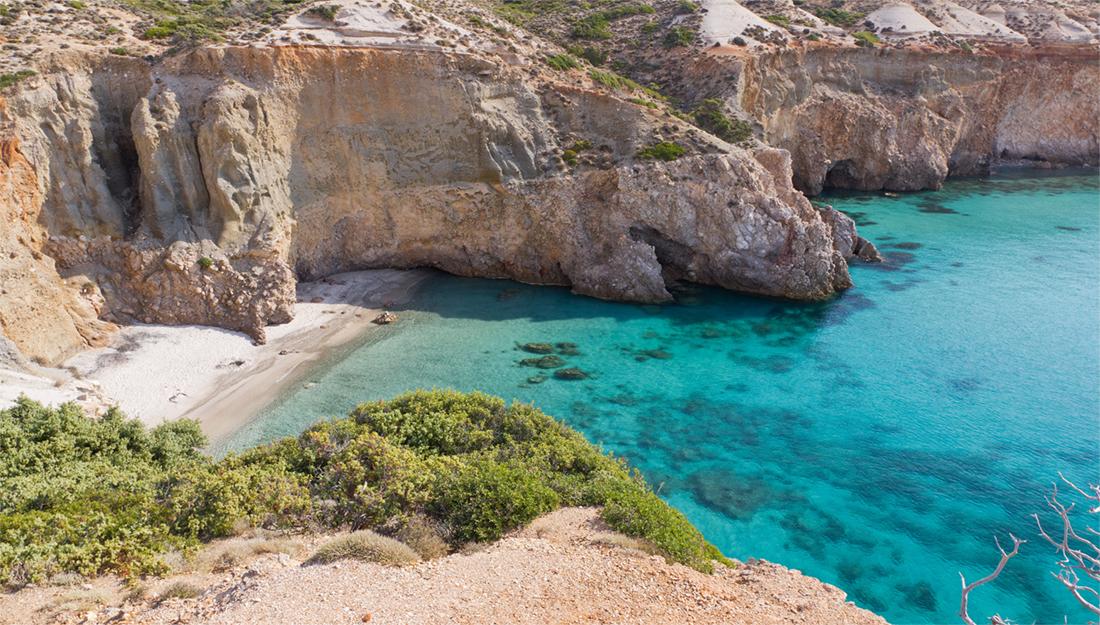 Milos island beach