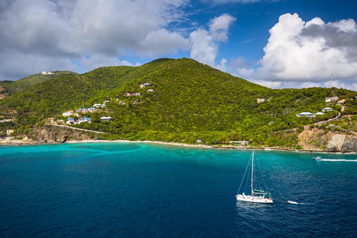 Tortola sailing boat
