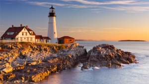 US yacht charters - lighthouse in New England
