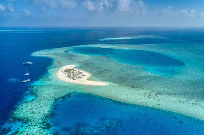 Vaavu atoll in the Maldives