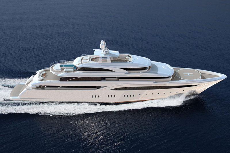 Yacht O'Ptasia with Helipad