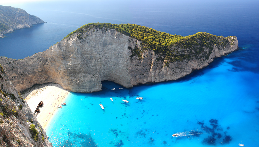Zakynthos beach in Greece