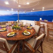 Amitie aft deck dining