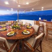 Amitie aft deck dining