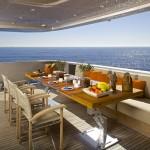 Aqua aft deck dining