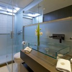 Aqua guest bathroom