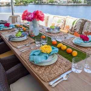 Charisma aft deck dining