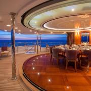Checkmate bridge deck dining