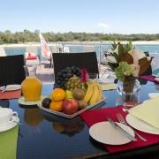 Cosmos deck breakfast