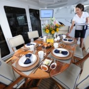 Island Girl deck dining