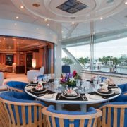 Lady Lola master private deck dining
