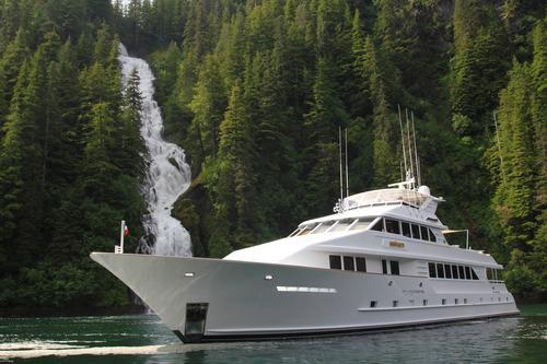 Talos yacht in Alaska