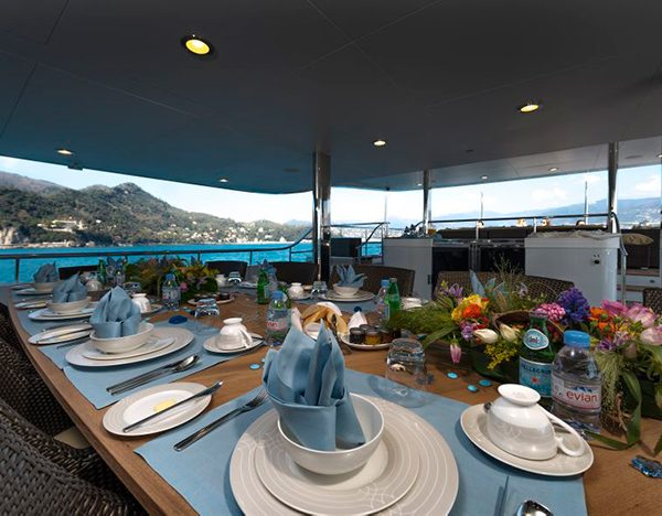 The Wellesley Aft Deck Dining