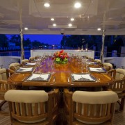Wheels aft deck dining